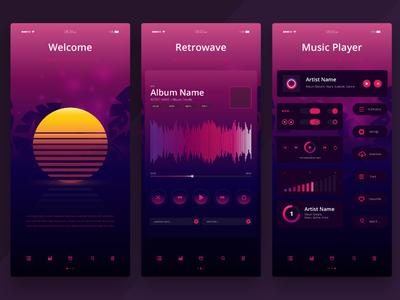 Retrowave Media PlayerUI Kit