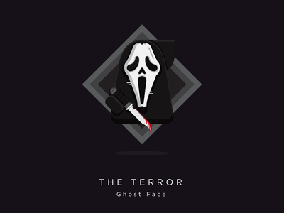Ghost Face vector ghostface illustration icon character