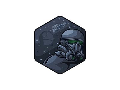 Death Trooper one rogue vector trooper wars space gradient star death dark colors clone