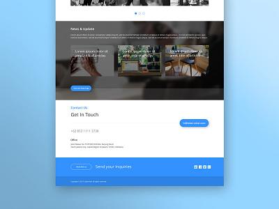 News & Footer apps clean design interaction mobile app motion ui ux web design website