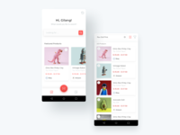 Product Search and Products List by Stores retail ecommerce app android app design android app icon typography branding illustration mobile app ui design ux design clean