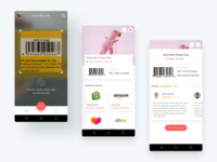 Product Screens Result by Barcode Scanning icon typography clean android app design mobile app ux design ui design online shopping online store retail ecommerce app scanner barcode