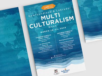 NL Multiculturalism Week Poster immigration diversity newfoundland waves multiculturalism