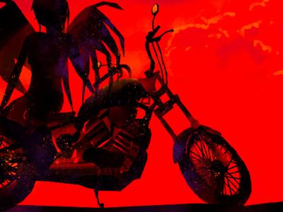 Motor bike bat WIP bike wings bat bats motorycycle