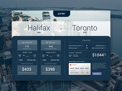 Porter Airlines Booking reservations booking travel airplane airlines airline