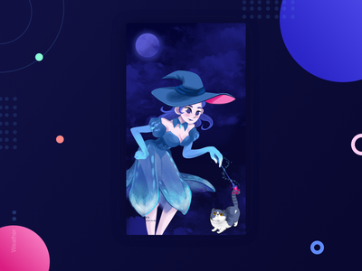Halloween color 设计 插图 ui
