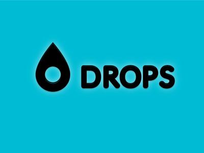 Drops logo (v1) logo typography vector icon