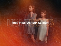 Free photoshop Light-Leaks action
