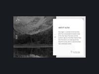 Altai nature website concept