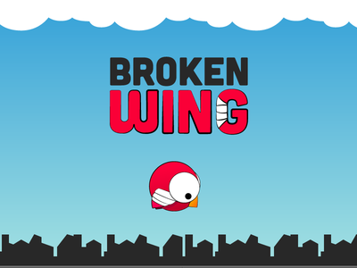 Broken Wing app ios logo illustration bird