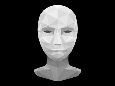 Face vector geometry face black and white