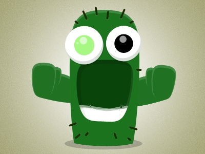 Cactus character vector illustration