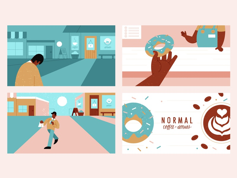 Bag-O-Donuts - Homework illustration schoolofmotion illustrationformotion