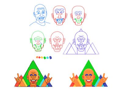 Joey Korenman Sketch - Workflow illustrationformotion schoolofmotion caricature