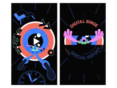 Binge Watching TV RE-Brand - Homework illustration illustrationformotion schoolofmotion