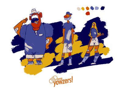character design concept art - Camp Yowzers colour palette character design illustrationformotion schoolofmotion