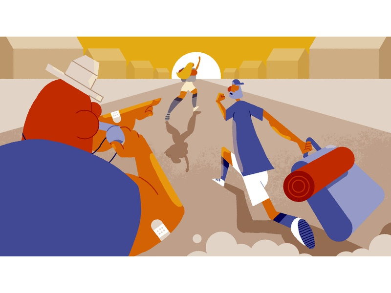 Camp Yowzers - frame 2 storyboarding character design illustrationformotion illustration schoolofmotion