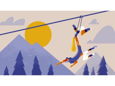 Camp Yowzers - frame 3 storyboarding character design illustration illustrationformotion schoolofmotion