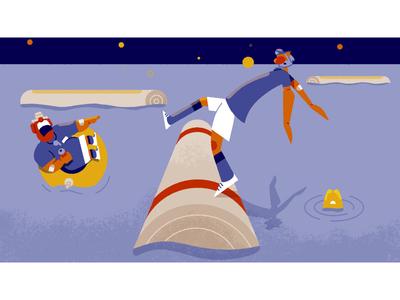 Camp Yowzers - frame 4 storyboarding character design illustration illustrationformotion schoolofmotion