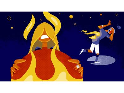 Camp Yowzers - frame 5 storyboarding character design illustration illustrationformotion schoolofmotion