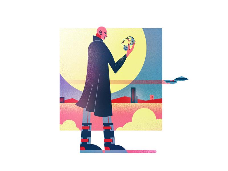 Jean-Luc Picard treklove ages friends reunited trekkie data brent spiner patrick steward startrek star trek picard photoshop dissolve illustration