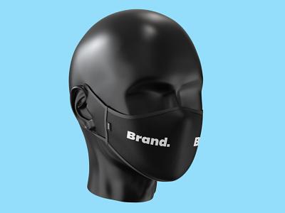Face Mask Mockup Template realistic 3d medical head covid pandemic virus corona mockup template mask face