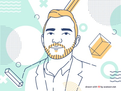 Cartoon Portrait For a Start-Up branding vector design cartoon art draw digital illustration portrait avatar it tech member team cartoon