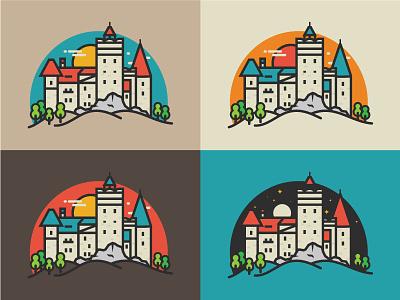 Bran Castle Transilvania romania landscape nature illustration color bran castle transilvania