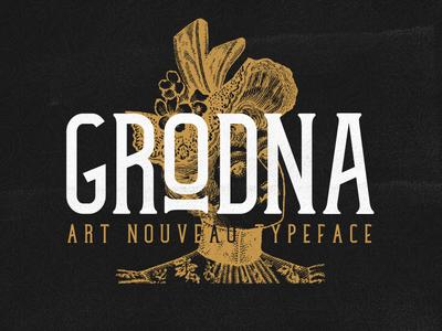 Grodna | Art Nouveau Typeface