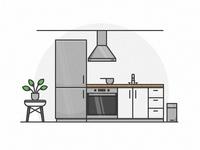Modern Kitchen Icons #002