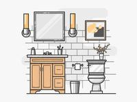 Bathroom Illustration #004