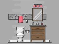 Bathroom Illustration #005