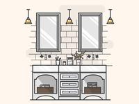 Bathroom Illustration #006