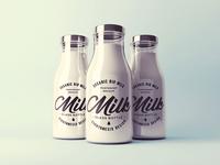 Milk Bottle Mock-Up Template