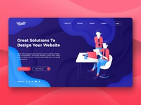Fluido Website Header
