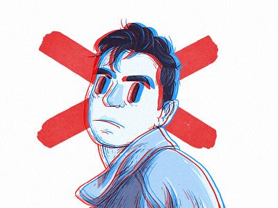 Custom Avatar Illustration noisy creepy profile custom illustration face cartoon design avatar