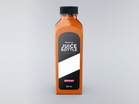 Juice Bottle Mock-Up Template