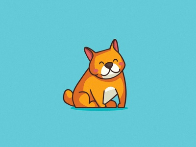 Frenchie Cartoon Illustration icon vector logo design branding dog grooming cute frenchie dog food illustration cartoon dog