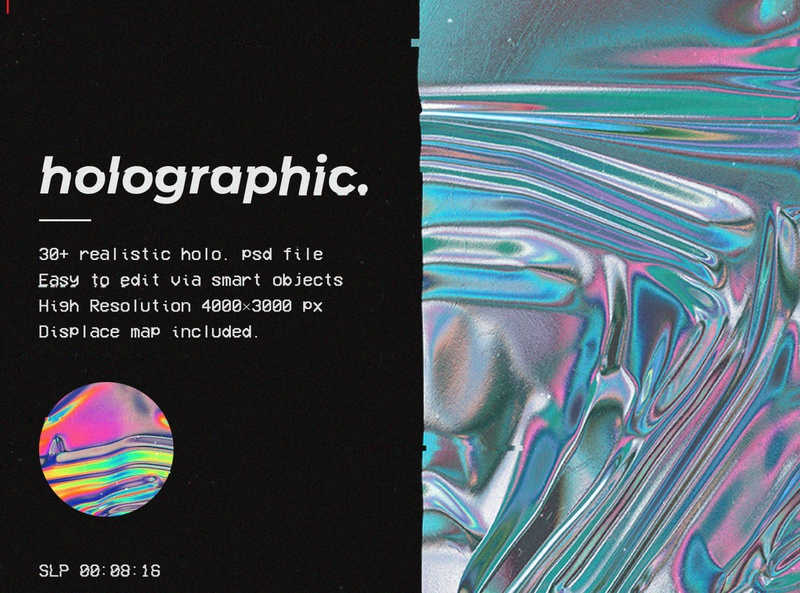 Holographic foil mock-up template foil background abstract holographic color blue art light space neon pink decoration rainbow gradient colorful iridescent pattern design wallpaper