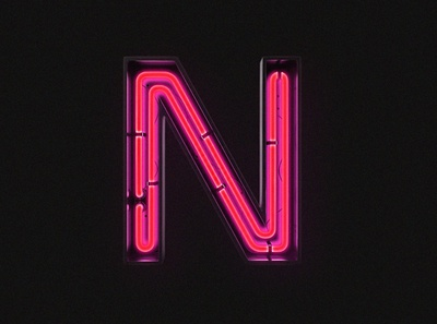 3D Neon letter