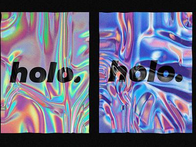 Realistic holographic texture ux gradient branding holographic foil 3d photoshop resource hologram mockup template design texture holographic