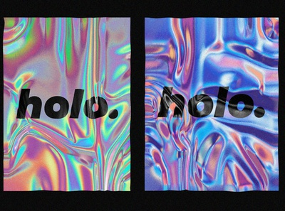 Realistic holographic texture ux gradient branding holographic foil 3d photoshop resource hologram mockup template design texture holographic