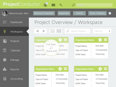 Project Conductor Dashboard Workspace