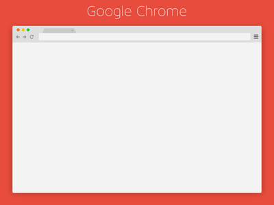 Chrome Browser PSD Download flat chrome app browser download psd ui ux clean colors free