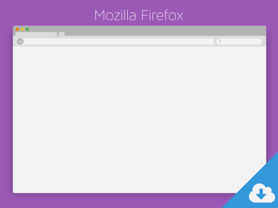 Mozilla Firefox PSD Download flat firefox app browser download psd ui ux clean colors free
