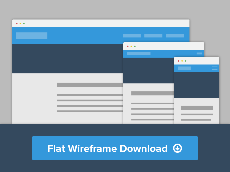Flat Wirefame PDS download wireframe freebie psd download browser website flat clean