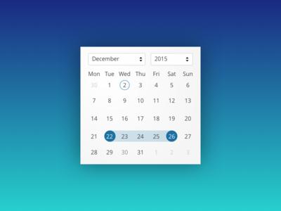 Daily UI 080 | Date Picker