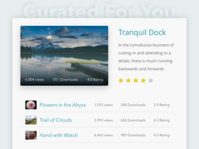 Daily UI 091 | Curated For You
