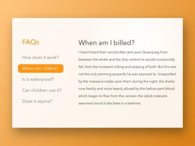 Daily UI 092 | FAQ