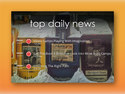 Daily UI 094   News top news daily news timeline feed rss news 094 dailyui daily ui